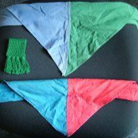 Groepsdas Blauw/Groen & Blauw Rood